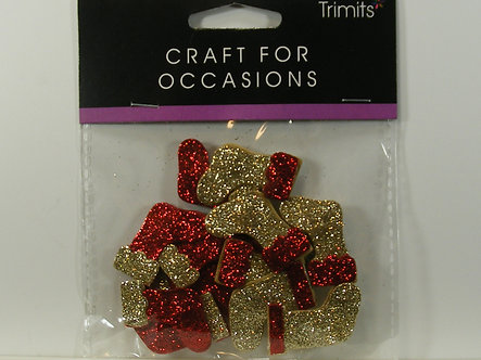 Trimits - Glittery Stocking Toppers.