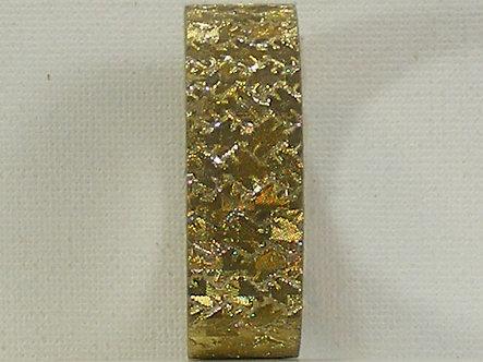 Craft Washi Tape - Gold Chequered Design.