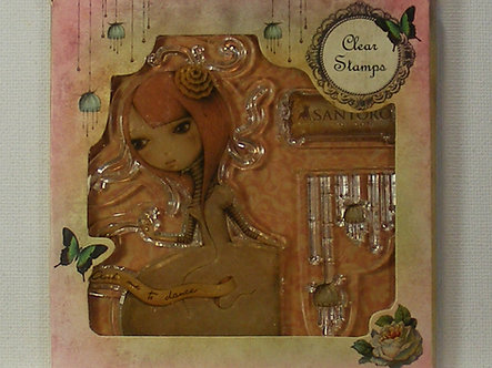 Santoro - Ask Me To Dance Clear Acrylic Stamp Set