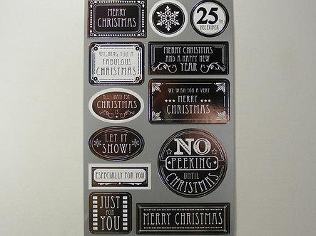 Christmas Decorative Stickers x 24.