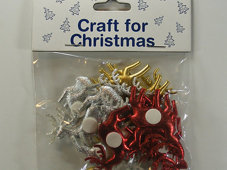 Craft For Christmas - Gold, Silver & Red Stag Toppers