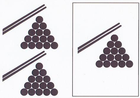 A5 Monochrome Decoupage Sheet - Snooker