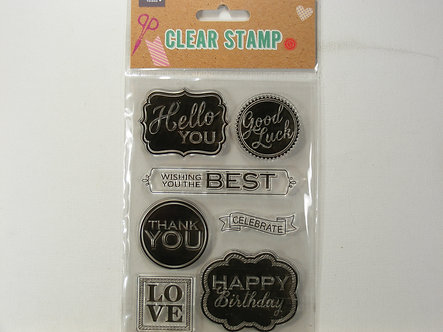 Crafty Things - A6 Acrylic Stamp Set