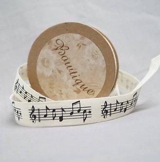 Bowtique - Music Note Cotton Ribbon