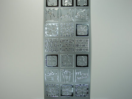 Christmas Peel Offs - Square Icon Tiles (Silver)