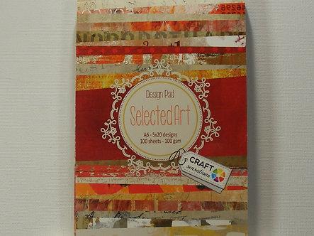 Craft Sensations - Selected Art A6 Design Pad.