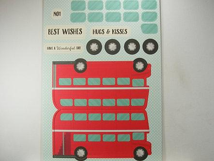 Kanban - Kan-Cars Card Kit - Red Bus.