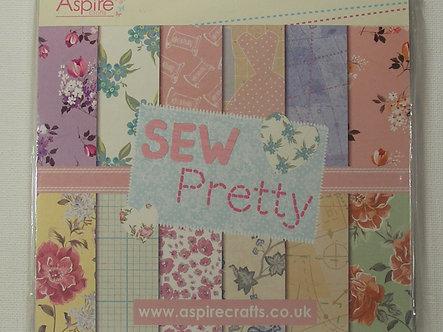 """Aspire Crafts (Kanban) - Sew Pretty 6"""" x 6"""" Paper Pad"""