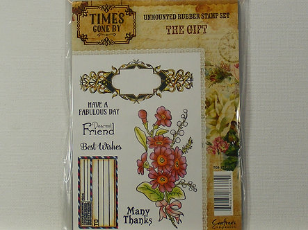Crafters Companion - Times Gone By - The Gift Rubber Stamp