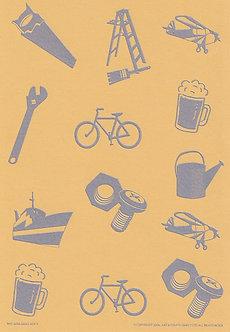 Art & Crafts Direct - Mini-Mens A5 Bkg Card (Mustard)