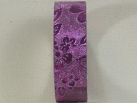Craft Washi Tape - Purple Flower Design.
