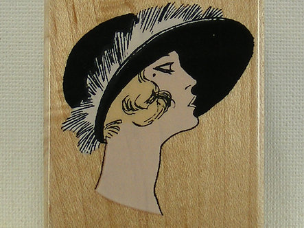 Hero Arts - Brimmed Hat With Fur Rubber Stamp