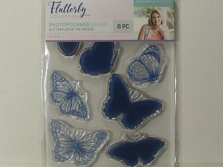Crafters Companion - Butterflies In The Breeze Acrylic Stamps