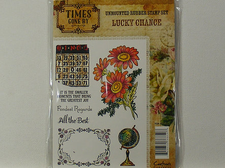 Crafters Companion - Times Gone By - Lucky Chance Rubber Stamps