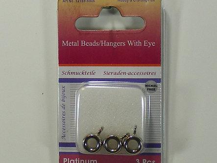 Creative International - Metal Bead Hangers With Eyes