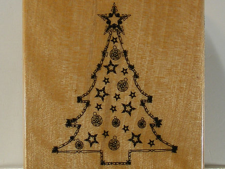 Papermania - Christmas Tree Rubber Stamp