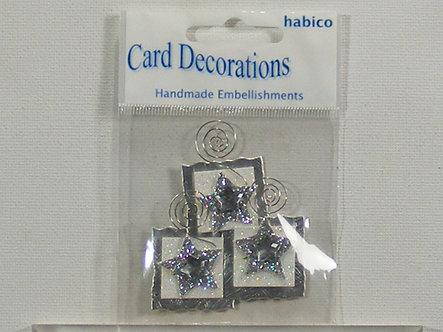 Habico Handmade Embellishments - Squares & Stars.