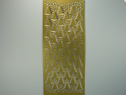 Christmas Peel Offs - Christmas Trees & Stars (Gold)