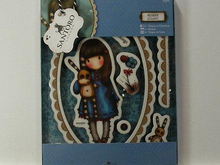 Santoro - Hush Little Bunny Rubber Stamps