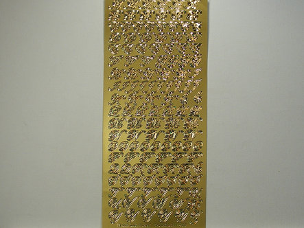 Goldlabel - Alphabet Peel Offs (Gold)
