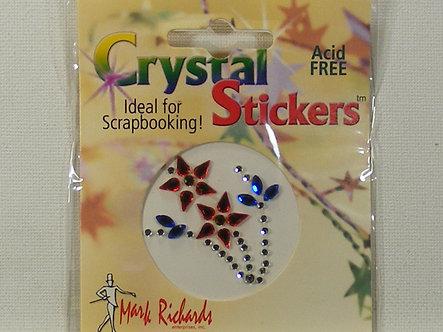 Mark Richards - Blue & Red Flower Gem Stickers