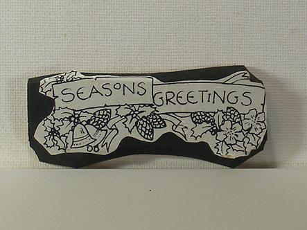 Unbranded - Seasons Greetings Foam Mounted Rubber Stamp