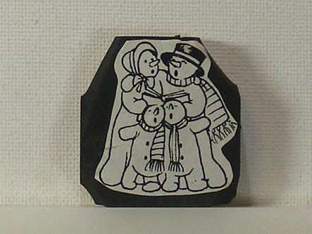 Unbranded - Snowman Carolers Foam Mounted Rubber Stamp