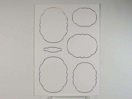 Kanban - Silver Foiled Layers/Frames.