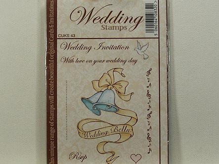 Crafts UK - Wedding Bells Rubber Stamp