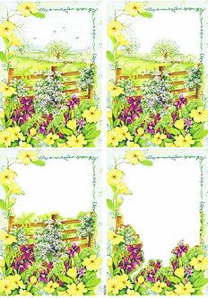 Countryside Decoupage - Daffodil Bloom Decoupage Sheet