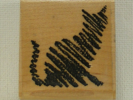 All Night Media - Scribble Cat Rubber Stamp