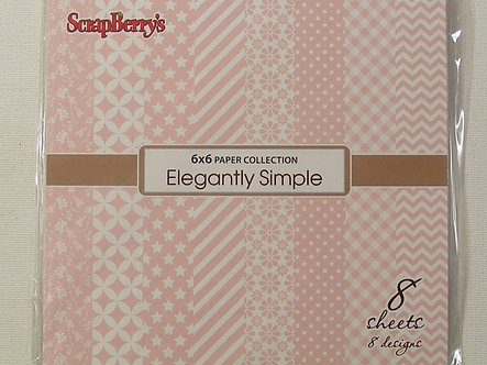 """Scrapberry's - Elegantly Simple 6""""x 6"""" Papers"""