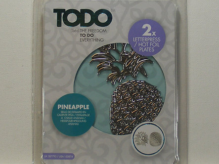 Todo - Pineapple Hot Foil Plate