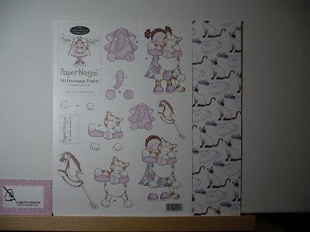 Paper Nation - Little Pussycat Girl 3D Decoupage.