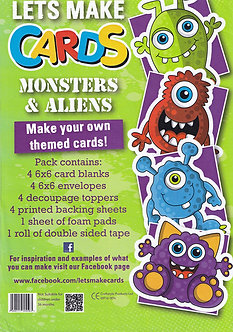 Craftstyle - Lets Make Cards - Monsters & Aliens
