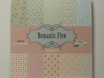 "Craft Sensations - Romantic Flow 6"" x 6"" Paper Pad."