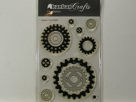 Kanban - Cogs Clear Acrylic Stamps
