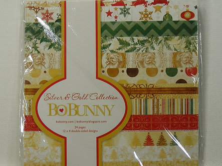 """Bo Bunny - Silver & Gold Collection 6"""" x 6"""" Paper Pad"""