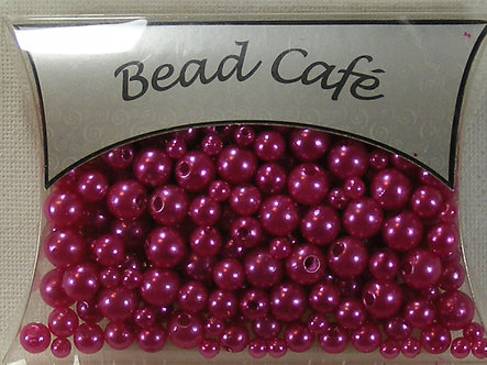 Bead Cafe - Hot Pink Pearl Beads (28gms)