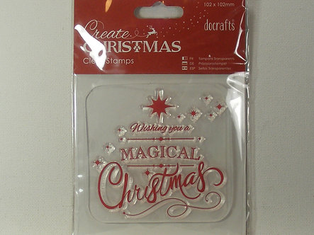 Docrafts - Create Christmas Magical Christmas Stamp