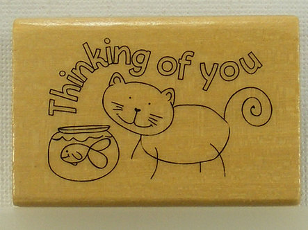 Anita's - Thinking Of You Wood Mounted Rubber Stamp