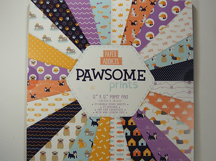 "Paper Addicts - Pawsome Prints 12"" x 12"" Pad"