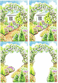 Countryside Decoupage - Floral Archway Decoupage Sheet