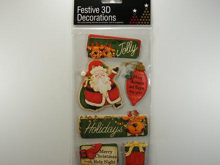 MC - Merry Christmas Festive 3D Decorations