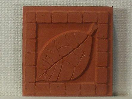 Unbranded - Brick Leaf Foam Mounted Rubber Stamp