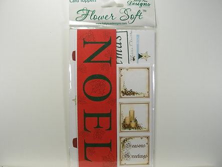 Flower Soft - Christmas Card Toppers