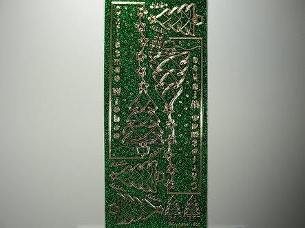 Goldlabel - Christmas Glitter Peel Offs (Green)