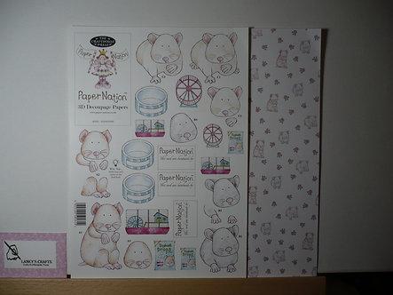 Paper Nation - Hamster 3D Decoupage.