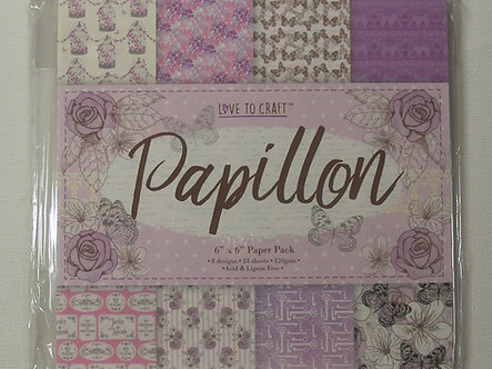 "Love To Craft - Papillon 6"" x 6"" Paper Pack."