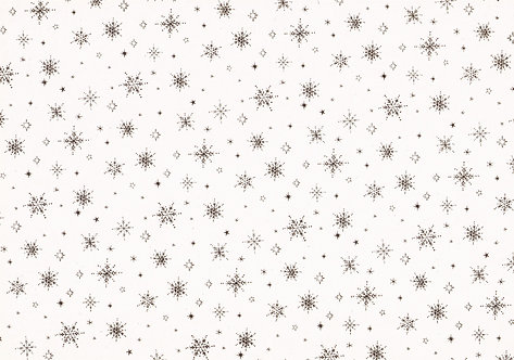 Kanban - Small Holographic Snowflake Background Card (Gold)